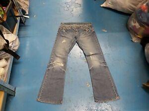 "River Island Bootcut Size 10 Waist 32"" Leg 31"" Medium Blue Faded Ladies Jeans"
