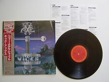 KICK AXE VICES LP vinyl 33t Japan / Japon Obi Rare shrink insert cbs 1984