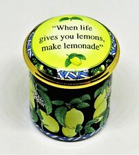 Halcyon Days Enamel Box -Neiman Marcus- When Life Gives You Lemons Make Lemonade