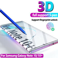 For Samsung Galaxy NOTE 10/10 Plus Tempered Glass Screen Protector Case Friendly