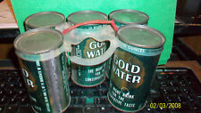 5-GOLD WATER FLAT TOP CANS VINTAGE