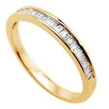 Eternity Baguette Yellow Gold Very Good Fine Diamond Rings