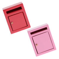 1:12 Dollhouse Miniature Wooden Outside Letterbox Postbox Fairy Mailbox Red