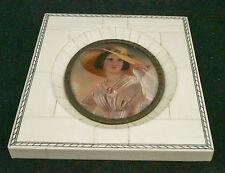 1800 Antique Miniature Portrait Painting on Ivory Artist Signed