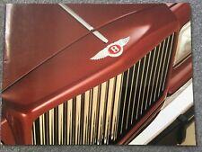 Bentley Eight Mulsanne Turbo R Continental 1987-88 UK Market Sales Brochure