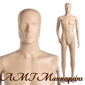6ft1tall Male mannequin w.removable head/arm,head rotates, plastic manikin-MC-3F