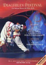 DIAGHILEV FESTIVAL Theatre Flyer  Handbill