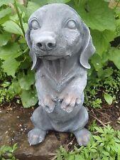 "Latex dachshund dog mold Plaster Concrete mould 10""H x 5""W"