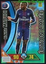 LE-BM MATUIDI LIMITED EDITION PARIS.SG PSG CARTE CARD ADRENALYN 2018 PANINI