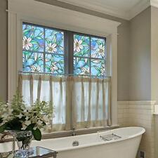 Orchid Sunscreen Glass Window Film Home Decoration Sticker 45x100cm