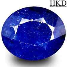 6.44 cts HKD-certified Natural UnHeated Oval-cut Blue VVS Sapphire (Africa)