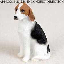 American Fox Hound Mini Resin Hand Painted Dog Figurine