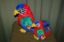 JABBER the Colorful PARROT Bird  - Ty Beanie Baby and BUDDY - MWMT