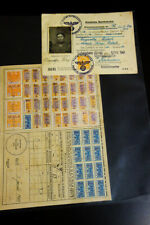 Germany Stamps WWII Third Reich Travel Papers 1940s Markings
