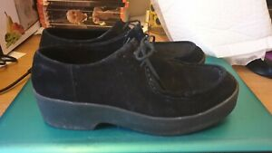 LADIES MENS VAGABOND BLACK SUEDE SHOES PLATFORM LOAFERS CREEPERS SIZE 7 / 40