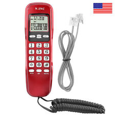 Home Office Corded Phone Redial Back Wired Telephone LCD Desktop Landline - USA
