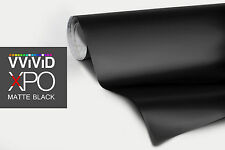 "VViViD Black Matte finish car vinyl wrap 3"" x 4"" sample decal bubble free film"