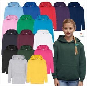 Fruit of The Loom Kids Classic Hooded Sweatshirt Boys Girls Pullover Hoodies
