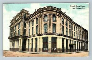 New Orleans LA-Louisiana French Opera House Destroyed 1919 Fire Vintage Postcard