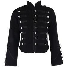 Banned Veste - Blazer Elégant Noir Officier Militaire gothique Légère Punk Rock