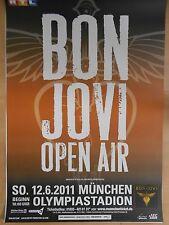 BON JOVI  2011  MÜNCHEN ++  orig.Concert Poster - Konzert Plakat  A1  NEU