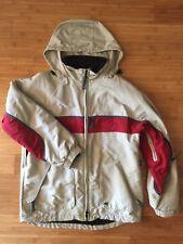 American Eagle AE77 Jacket Coat Ski Winter Men S Red Tan Khaki Vents Hood Parka