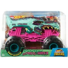 "HOT WHEELS MONSTER JAM ""ZOMBIE WREX"" SHARK MONSTER TRUCK 1:24 WITH GIANT WHEELS"