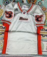 Utah Blaze AFL Arena Football League Russell Blank Pro Cut Game Jersey 38 S VTG