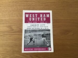WEST HAM UTD V CARDIFF CITY LEAGUE CUP SEMI FINAL FIRST LEG 65