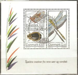 Denmark: used block, Insects, 2003, Mi# Bl-21.