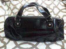 JLO Jennifer Lopez Black Faux Leather Satchel Handbag Purse
