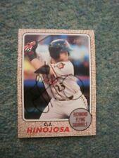 C J Hinojosa (San Francisco Giants) Signed Baseball Card