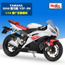 Maisto 1:18 YAMAHA YZF R6 Motorcycle Model Collection Birthday Gift