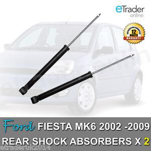 FORD FIESTA MK5 MK6 REAR SHOCK ABSORBERS 02-09 SHOCKS SHOCKERS PAIR x 2 Dampers