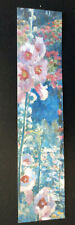GARDEN FLOWERS; RED CROSS BOOKMARK; narrow version ; unused (Bl)
