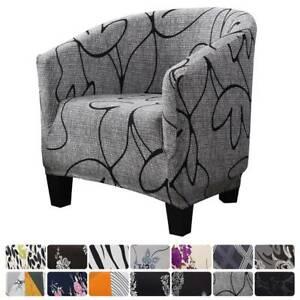 Tub Chair Cover Floral Elastic Armchair Single Sofa Covers Slipcover Home Decor!