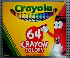 Crayola Crayons 64-Ct Assorted Colors Sharpener Included Non-Toxic