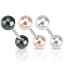 Unbranded Pearl Tongue Piercing Bars/Barbells