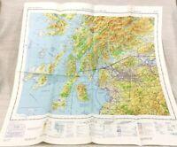 1982 Militare Mappa Di Scozia Kintyre Islay Raf Aviazione Aeronautico il Grafico