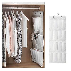 NEW IKEA Hanging Shoes Storage Organiser 16 Pockets Hook Eyelet White Organizer