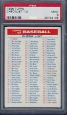 1956 TOPPS CHECK LIST 1/3 PSA 9 MINT HIGHEST GRADED
