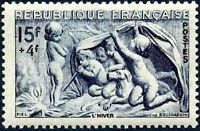 """FRANCE TIMBRE STAMP N°862 """"SERIE DES SAISONS, HIVER"""" NEUF X TB"""
