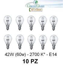 10 Lampada/Lampadina alogena a risparmio energetico 42W (60W) E14 Sfera