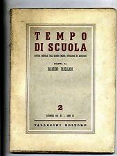 TEMPO DI SCUOLA#Mensile Ord. Medio/Superiore/Artistico-An.III-N.2#Dicembre 1941
