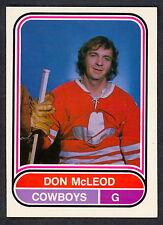 1975 76 OPC O PEE CHEE WHA 32 DON MCLEOD NM CALGARY COWBOYS HOCKEY FREE SHIP USA