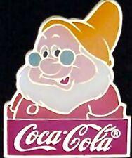 Disney Pin~Doc~15th anniversary~WDW~1986~Coca Cola~Coke~Snow White & 7 dwarves