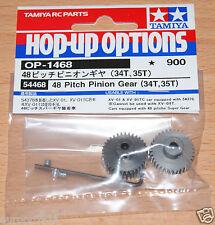 Tamiya 54468 48 Pitch Pinion Gear (34T, 35T), (XV-01/XV01/XV-01TC/XV01TC), NIP