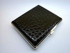 Metal Leather Cigarette Case  - (BK1-320-2-L)