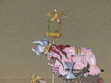 COMICS DRAWING HUMOR BUZZI WATERCOLOURS ORIGINAL SIGNED An ancestor d'Asterix
