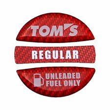 JDM OEM TOM'S TOYOTA Fuel cap garnish Budge Emblem Red Regular 86 SUPRA MR-2